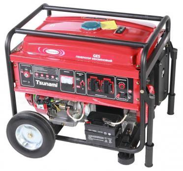 Бензиновый генератор Tsunami GES 6500 Е