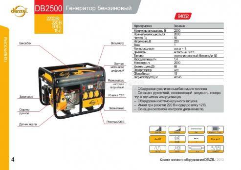 Купить Генератор бензиновый DENZEL DB 2500 Москва