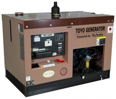 Дизельный генератор Toyo TKV-14TPC в кожухе Москва
